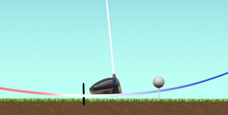 golf driver positive angle of attack