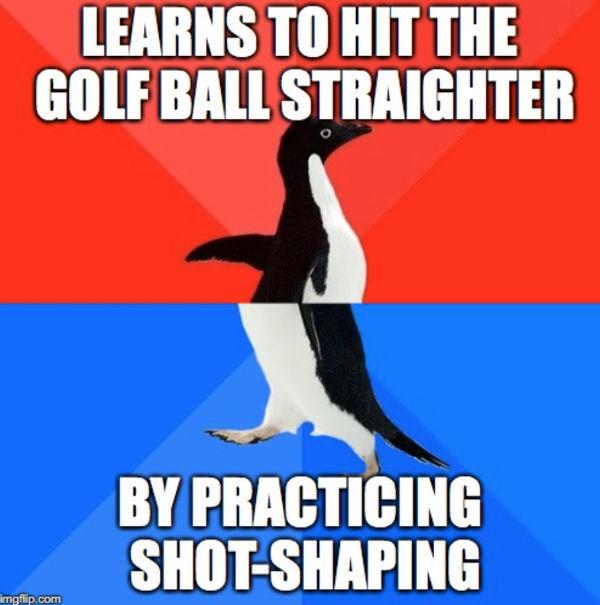 golf shot shaping