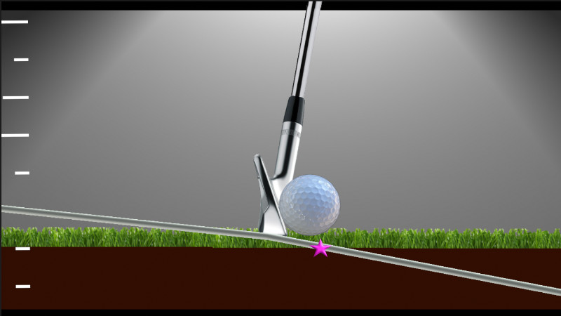 descending angle of attack with a golf iron shot