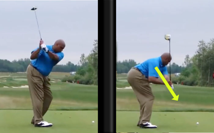 Charles Barkley Golf Swing