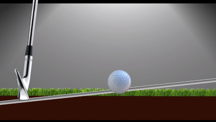 hitting up with a golf iron can create a ground first (fat) shot