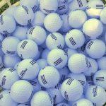 bucket of golf range balls