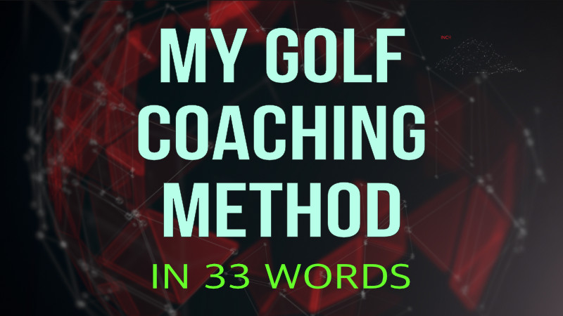 my golf coaching method