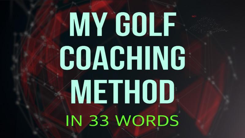 my golf coaching method