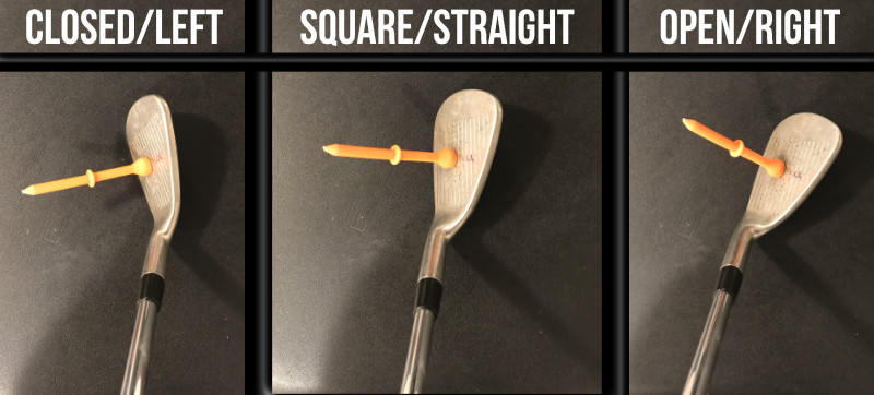 golf clubface that is closed versus open vs square