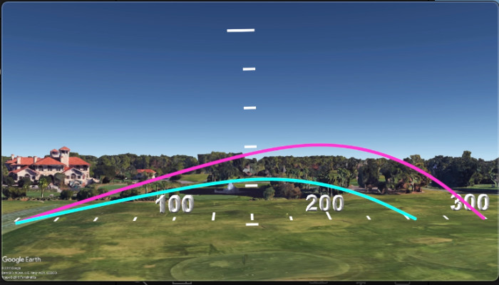 high vs low launch golf drive trajectory