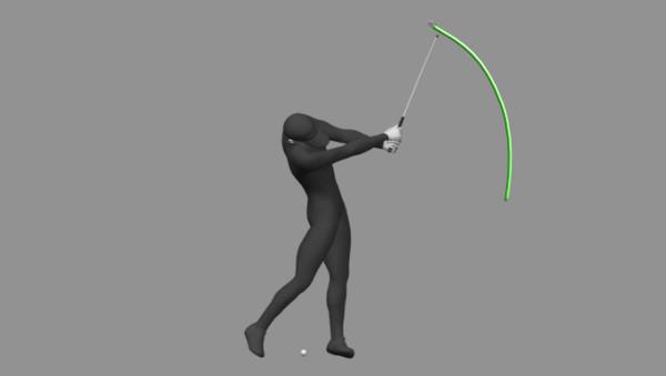 Golf swing P8 to P9